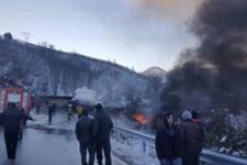 Akaryakıt tankeriyle TIR çarpıştı: 2 ölü