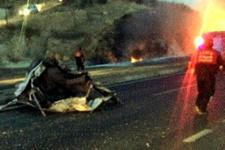 Aydın'da zincirleme kaza yakıt tankeri patladı