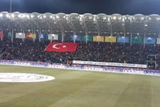 Galatasaray Osmanlıspor maçında şehitler unutulmadı
