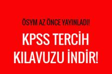 KPSS tercih kılavuzu ÖSYM indirme ekranı