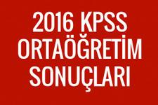 KPSS 2016 ortaöğretim sonuçları ÖSYM sorgu ekranı