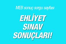 Ehliyet sınav sonuçları MTSAS sonuç ekranı MEB