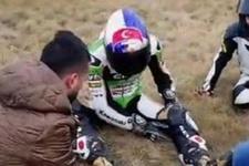 Kenan Sofuoğlu'ndan korkutan kaza