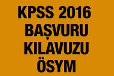 KPSS başvuru kılavuzu 2016 ÖSYM 31 Mart şartına dikkat!