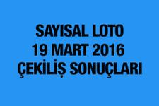 Sayısal Loto sonuçları 19 Mart çekilişi MPİ bu hafta...