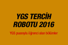 YGS tercih robotu 2016 hangi üniversiteye girebilirim?