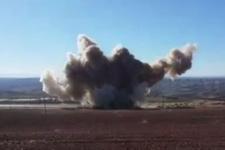 Sur'da el yapımı patlayıcının infilak etme anı