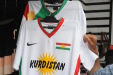 Şırnak'ta satılan Kürdistan bayraklı formalar toplatıldı
