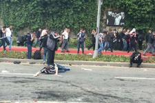 Vodafone Arena karıştı! Polisten gazlı müdahale