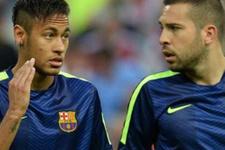 Neymar Jordi Alba'ya küfür etti