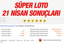 Süper Loto 21.04.2016 çekilişi sonuçları 20 milyon nereye çıktı?