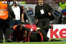 Trabzonspor Fenerbahçe maçının hakemine şok saldırı