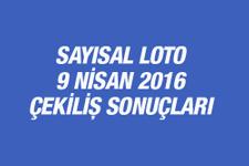 Sayısal Loto 09.04.2016 sonuçları MPİ çekilişinde...