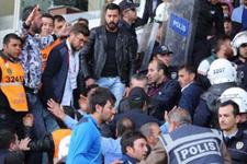 Sivasspor tribünlerinde kavga çıktı