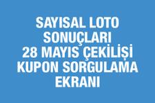 28 Mayıs Sayısal Loto sonuçları Milli Piyango kupon sorgulama ekranı