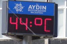 Aydın hava durumu ürküttü 44 derece sıcak