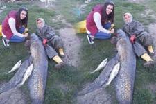 Edirne'de yakalandı: 2,5 metre 72 kilo!