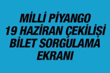 Milli Piyango çekiliş sonuçları bilet sorgulama 19 Haziran 2016