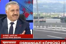 Ahmet Arslan'dan Osmangazi Köprüsü açıklaması