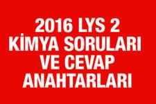 LYS Kimya soruları ve cevapları 2016 ÖSYM ais