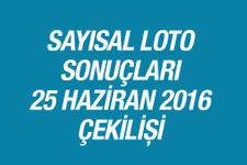 Sayısal Loto sonuçları açıklandı 25.06.2016 Sayisal çekilişinde...