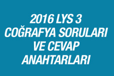 LYS Coğrafya soruları ve cevapları 2016 ÖSYM ais