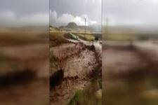 Sungurlu'da yağmur beraberinde seli getirdi