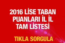 TEOG sonuçları lise taban puanları 2016 il il tam listesi