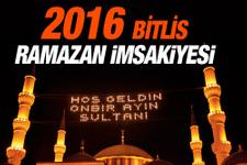 Bitlis iftar vakti 2016 sahur imsak saatleri