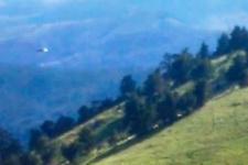 Giresun'da düşen helikopterin son anları görüntülendi