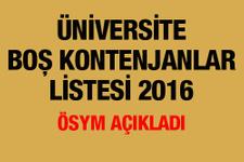Üniversite boş kontenjanları 2016 ÖSYM ek yerleştirme başvuruları!