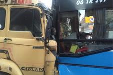 Ankara'da freni boşalan kamyon dehşeti