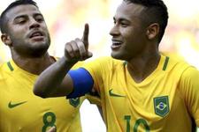 Neymar olimpiyat tarihine geçti