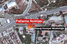 Elazığ'da patlama emniyet müdürlüğüne saldırı yapıldı!
