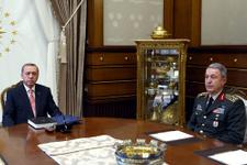 Erdoğan Hulusi Akar ve Fidan ile görüştü