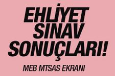 Ehliyet sonuçları sınav sorgusu MTSAS-MEB