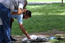 Kayseri'deki parkta torbanın içinden çıkan dehşete düşürdü