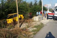 Bilecik'te otomobil yoldan çıktı: 3 yaralı