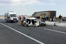 Afyon'da katliam gibi trafik kazası!