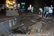 Bodrum'da içme suyu hattı bomba gibi patladı