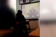 Fizik dersindeki FETÖ propagandası kamerada!