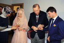 Genç çiftin nişanında Erdoğan sürprizi