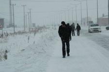 Yalova'da kuvvetli kar yağışı hava durumu kötü