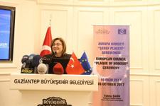 Fatma Şahin  Avrupa Şeref Plaketi Ödülü'ne layık görüldü