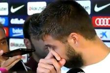 Barcelonalı yıldız Pique gözyaşlarını tutamadı