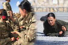 TSK'nın kadın askeri! Namluya para koyup atış yapıyorlar