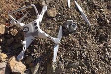 Artvin'de bir kartal drone parçaladı