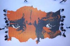32 bin karton bardakla Türkiye haritası yaptılar