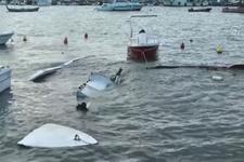 Silivri'de lodos tekneleri batırdı!