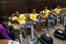 Maçtan sonra Brezilya soyunma odasına şok görüntü